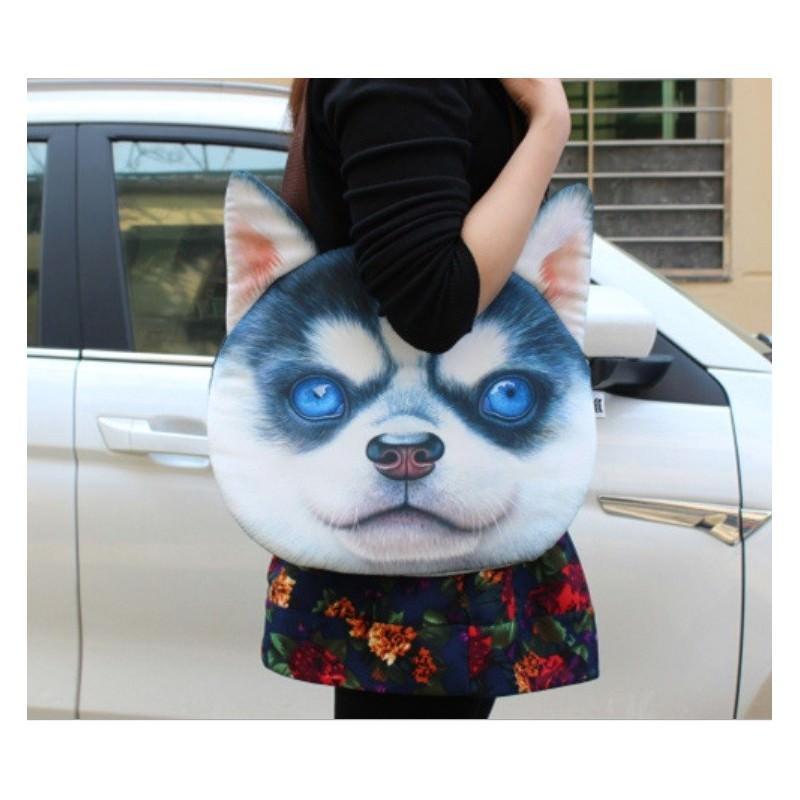 Эпатажные сумки-игрушки MiMi Animals с 3D-принтом Dogs - Хаски