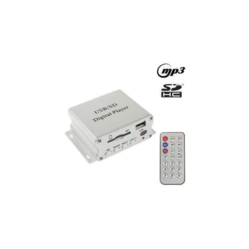 Автомобильный цифровой MP3-плеер – поддержка USB-дисков, карт SD/MMC (серебристый)