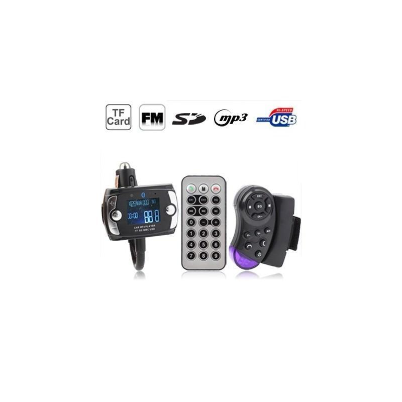 Автомобильная Bluetooth-гарнитура для громкой связи MP3-4110 – MP3-плеер, FM-модулятор, LCD экран, USB, SD/MMC/Micro SD