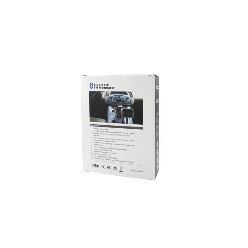 Автомобильная Bluetooth-гарнитура для громкой связи MP3-4110 – MP3-плеер, FM-модулятор, LCD экран, USB, SD/MMC/Micro SD 184332
