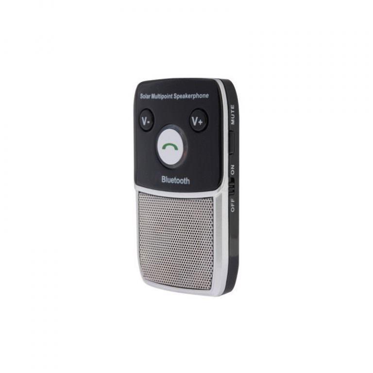 1301 - Автомобильный комплект для громкой связи на 2 телефона с солнечной панелью T-1903 –,присоски и зарядное устройство