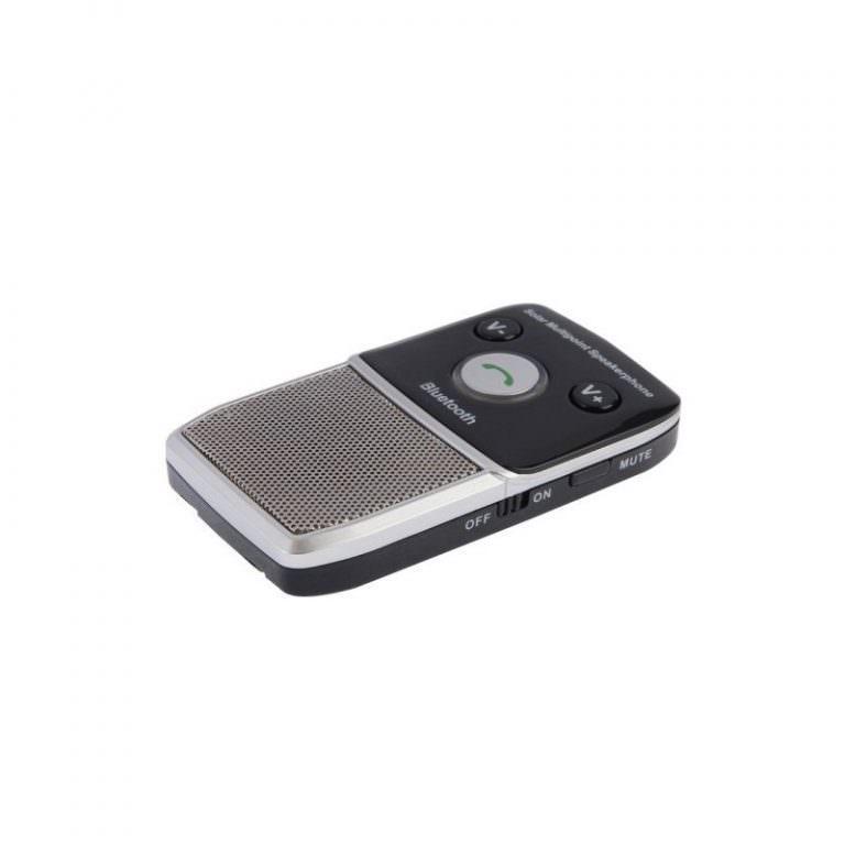 1302 - Автомобильный комплект для громкой связи на 2 телефона с солнечной панелью T-1903 –,присоски и зарядное устройство