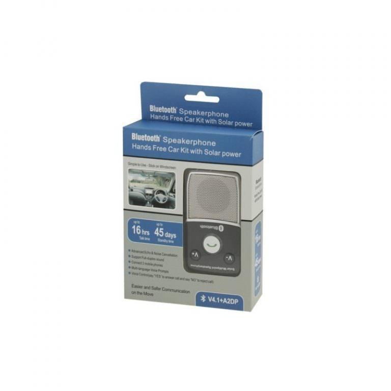 1308 - Автомобильный комплект для громкой связи на 2 телефона с солнечной панелью T-1903 –,присоски и зарядное устройство