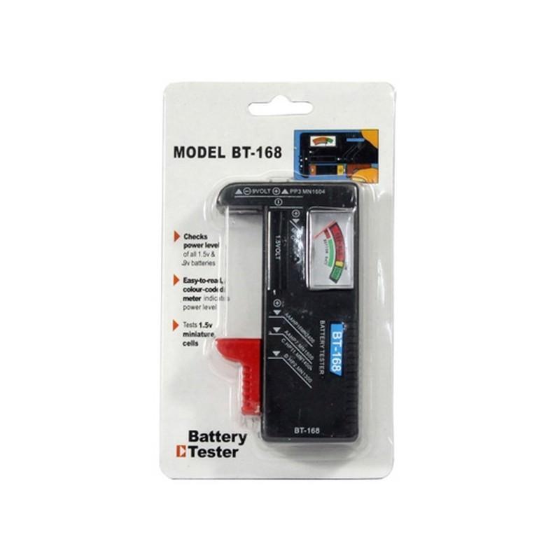 Универсальный тестер заряда батареек ВТ-168 – 1.5V AAA, AA и 9V 6F22, индикатор цвета 193823