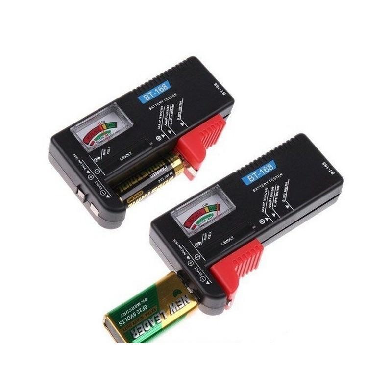 Универсальный тестер заряда батареек ВТ-168 – 1.5V AAA, AA и 9V 6F22, индикатор цвета 193825