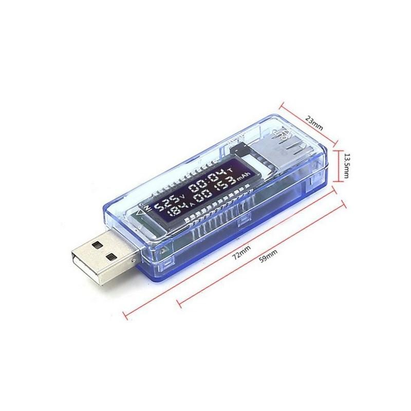 USB-тестер Keweisi для определения емкости батареи – 0-99999 мАч, измерение входного тока, напряжения, времени полной зарядки 193879