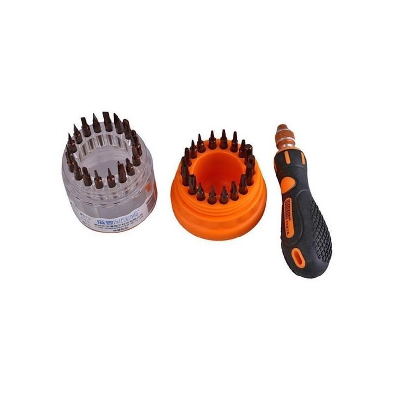 Профессиональный набор отверток JAKEMY JM-8117 37 в 1 – прочная сталь, эргономичная рукоятка, магнитная фиксация битов 193913
