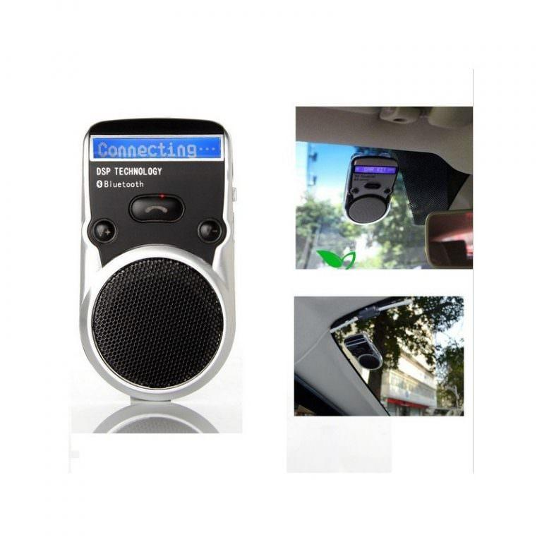 1320 - Автомобильный комплект громкой связи Bluetooth Car Kit с LCD-дисплеем и солнечной батареей