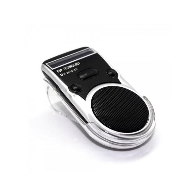 1321 - Автомобильный комплект громкой связи Bluetooth Car Kit с LCD-дисплеем и солнечной батареей