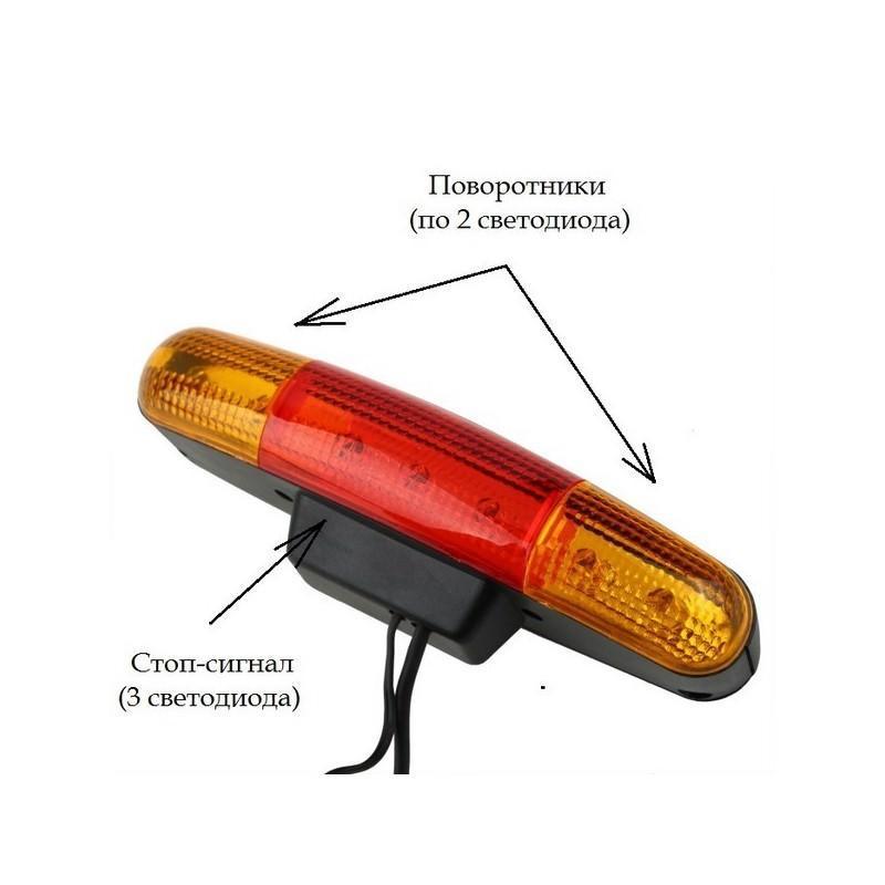 Обвес для повышения безопасности велосипеда 4 в 1 – стоп-сигнал, поворотники, габарит, гудок 193934