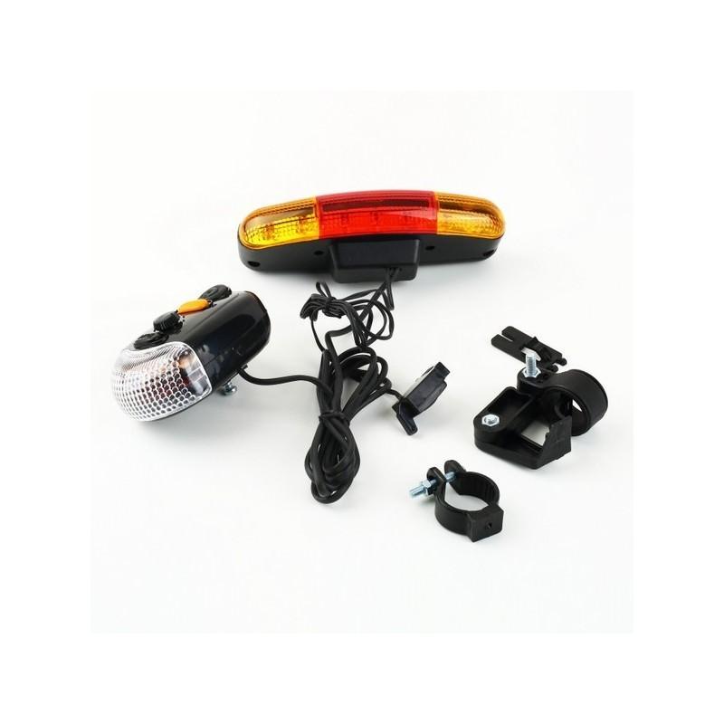 Обвес для повышения безопасности велосипеда 4 в 1 – стоп-сигнал, поворотники, габарит, гудок