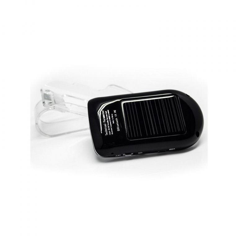 1324 - Автомобильный комплект громкой связи Bluetooth Car Kit с LCD-дисплеем и солнечной батареей