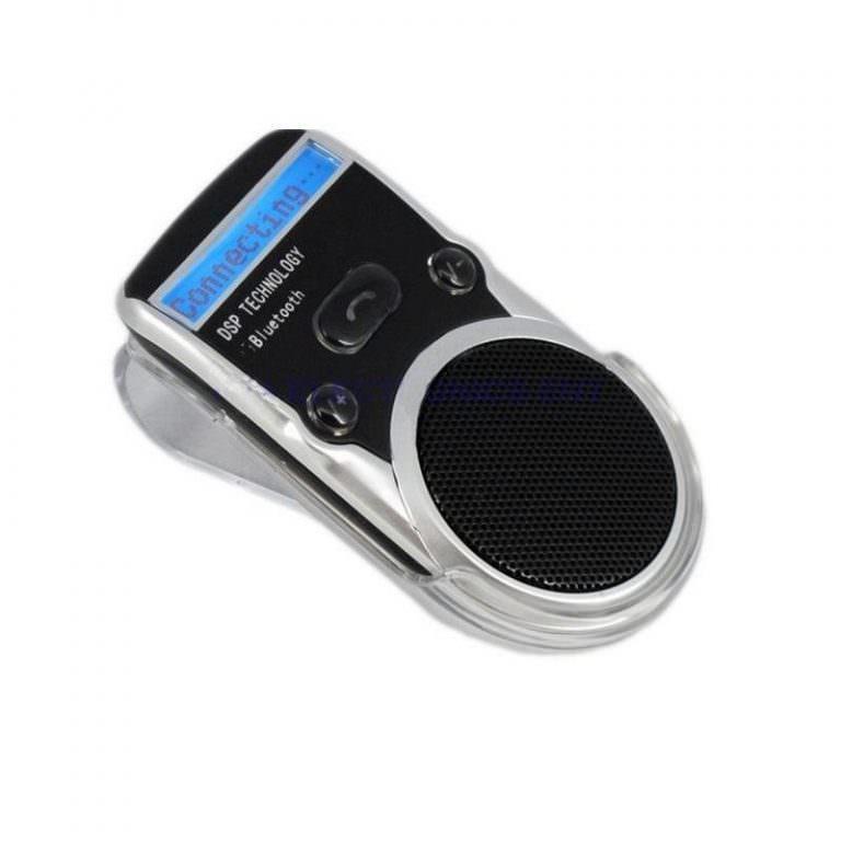 1326 - Автомобильный комплект громкой связи Bluetooth Car Kit с LCD-дисплеем и солнечной батареей