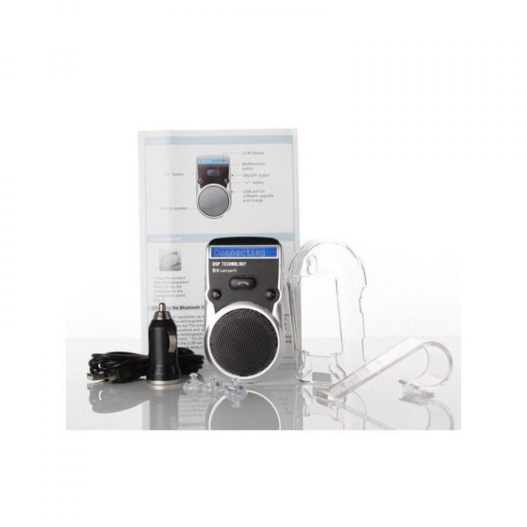 1327 - Автомобильный комплект громкой связи Bluetooth Car Kit с LCD-дисплеем и солнечной батареей