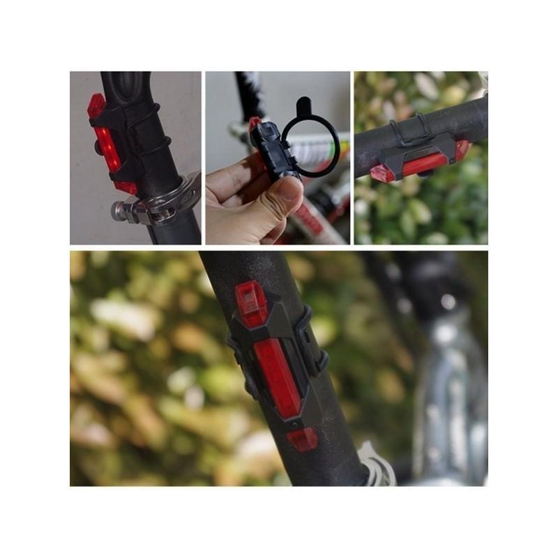13273 - Светодиодный USB-фонарь для велосипеда Rapid X15 - 15 лм, до 12 часов работы, зарядка через USB, 4 режима