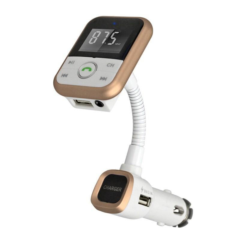 Беспроводной FM-трансмиттер + USB-зарядное + Bluetooth-гарнитура для автомобиля: SD-карта, 3,5 мм аудиовыход 194018