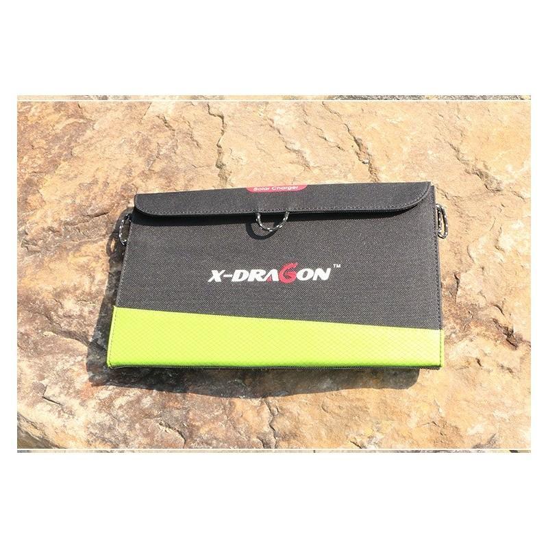 Солнечное зарядное Allpowers X-DRAGON 20Вт для мобильных телефонов и планшетов: 3 панели, 2  USB-порта, карабин 194106