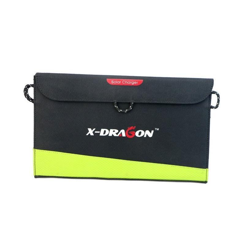 Солнечное зарядное Allpowers X-DRAGON 20Вт для мобильных телефонов и планшетов: 3 панели, 2  USB-порта, карабин 194107
