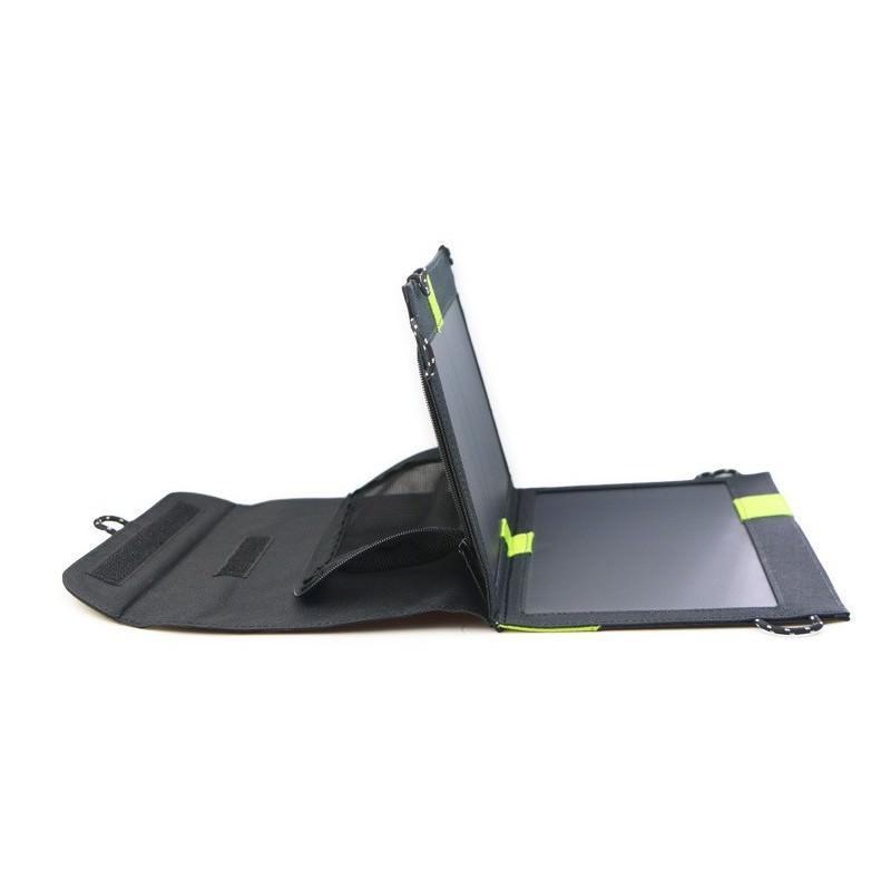 Солнечное зарядное Allpowers X-DRAGON 20Вт для мобильных телефонов и планшетов: 3 панели, 2  USB-порта, карабин 194109