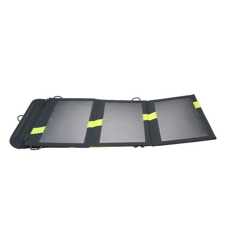 Солнечное зарядное Allpowers X-DRAGON 20Вт для мобильных телефонов и планшетов: 3 панели, 2  USB-порта, карабин 194110
