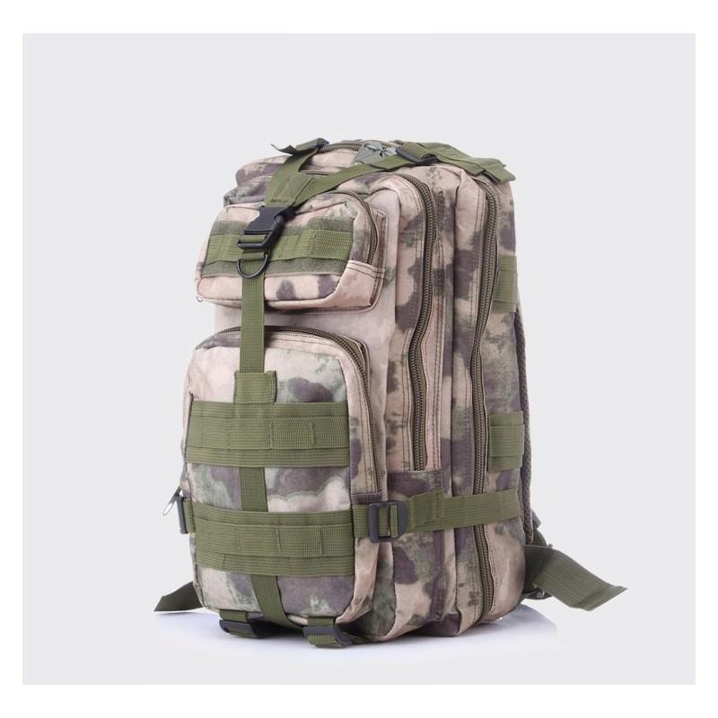 13449 - Недорогой камуфляжный тактический рюкзак 3P-Zone с системой M.O.L.L.E: 30л, водоотталкивающий нейлон