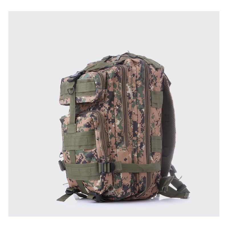 Недорогой камуфляжный тактический рюкзак 3P-Zone с системой M.O.L.L.E: 30л, водоотталкивающий нейлон - Камуфляж зеленый