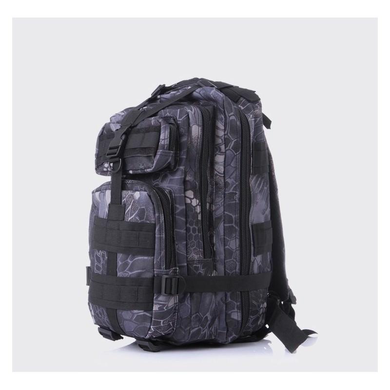 13452 - Недорогой камуфляжный тактический рюкзак 3P-Zone с системой M.O.L.L.E: 30л, водоотталкивающий нейлон