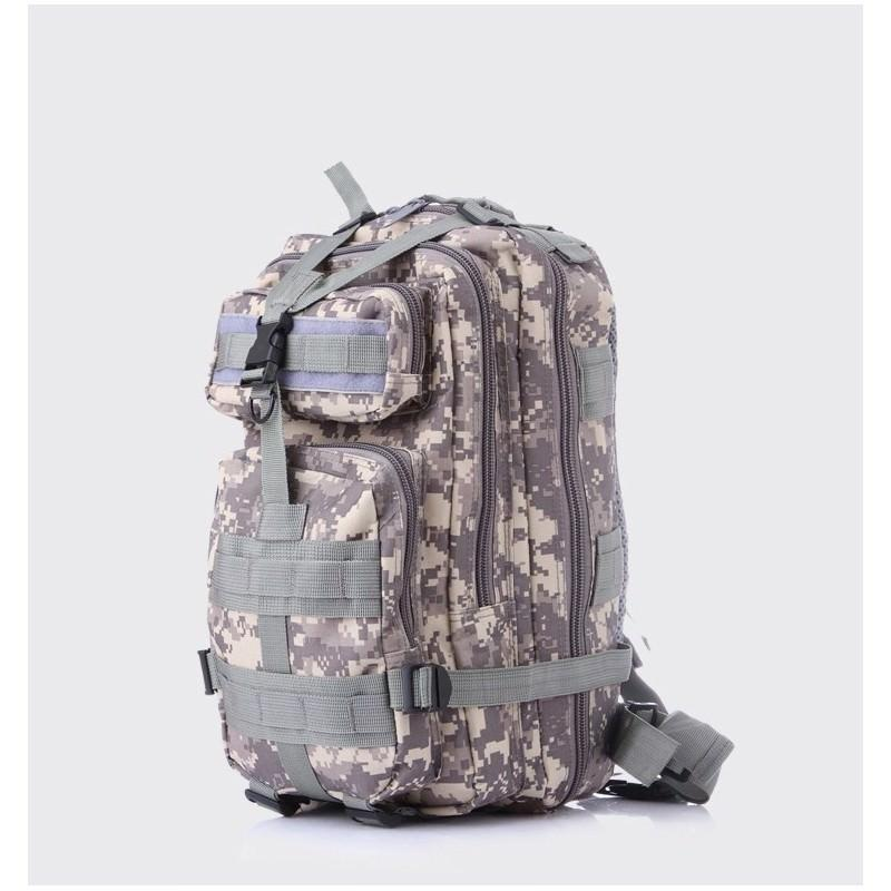 13455 - Недорогой камуфляжный тактический рюкзак 3P-Zone с системой M.O.L.L.E: 30л, водоотталкивающий нейлон