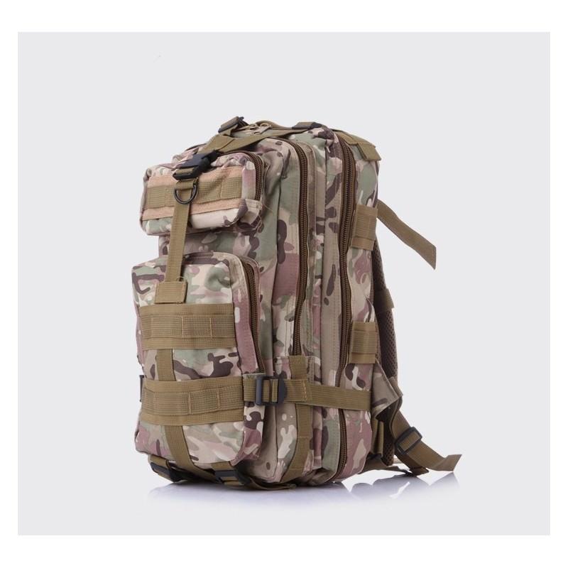 13456 - Недорогой камуфляжный тактический рюкзак 3P-Zone с системой M.O.L.L.E: 30л, водоотталкивающий нейлон