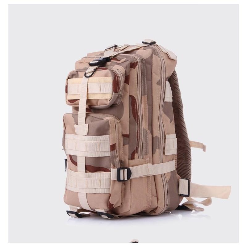 13458 - Недорогой камуфляжный тактический рюкзак 3P-Zone с системой M.O.L.L.E: 30л, водоотталкивающий нейлон