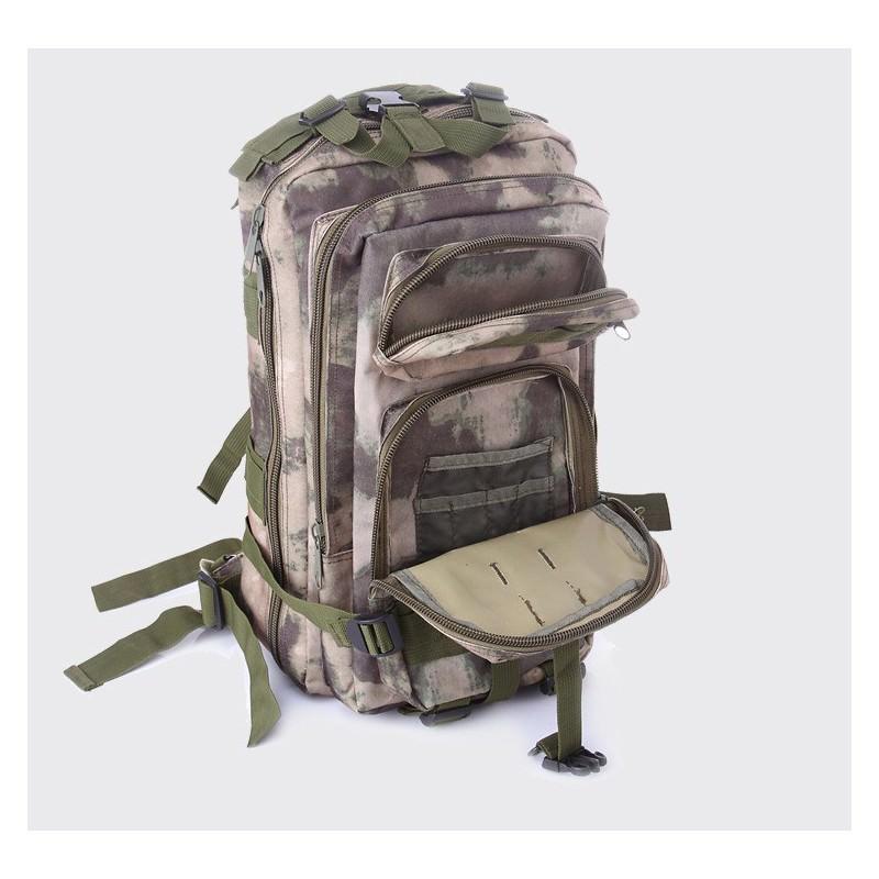 13459 - Недорогой камуфляжный тактический рюкзак 3P-Zone с системой M.O.L.L.E: 30л, водоотталкивающий нейлон