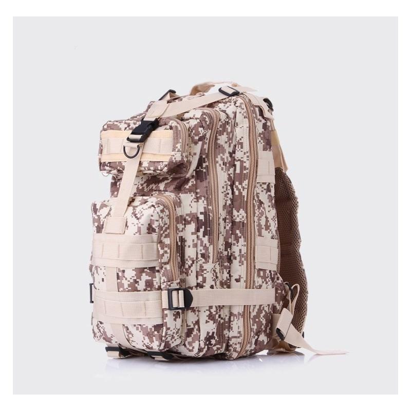 13464 - Недорогой камуфляжный тактический рюкзак 3P-Zone с системой M.O.L.L.E: 30л, водоотталкивающий нейлон