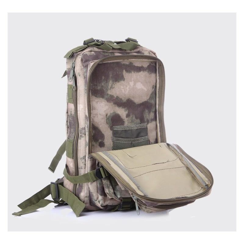 13465 - Недорогой камуфляжный тактический рюкзак 3P-Zone с системой M.O.L.L.E: 30л, водоотталкивающий нейлон