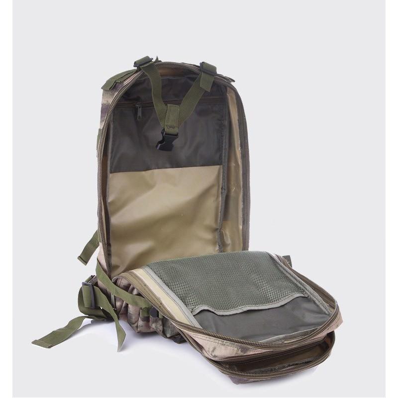 13466 - Недорогой камуфляжный тактический рюкзак 3P-Zone с системой M.O.L.L.E: 30л, водоотталкивающий нейлон