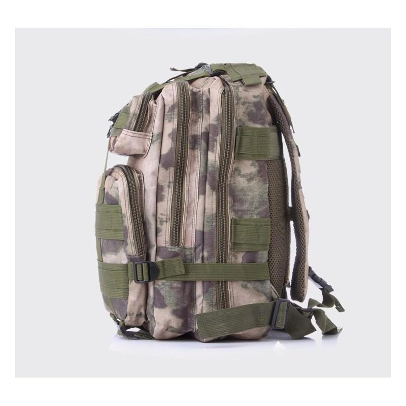 13469 - Недорогой камуфляжный тактический рюкзак 3P-Zone с системой M.O.L.L.E: 30л, водоотталкивающий нейлон