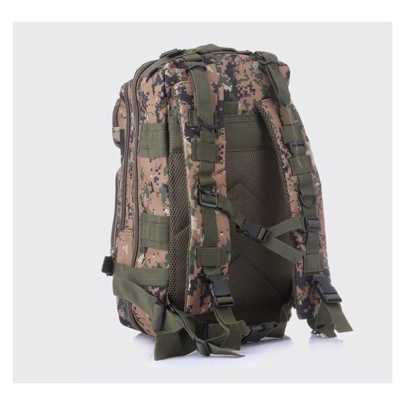 13472 - Недорогой камуфляжный тактический рюкзак 3P-Zone с системой M.O.L.L.E: 30л, водоотталкивающий нейлон