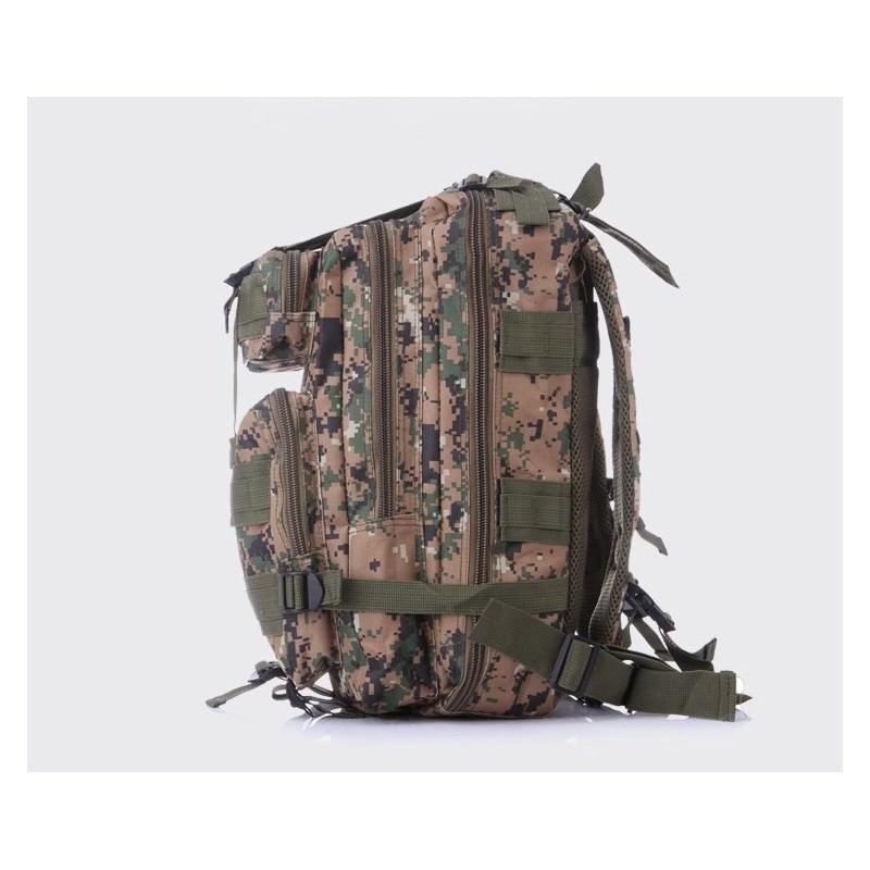 13473 - Недорогой камуфляжный тактический рюкзак 3P-Zone с системой M.O.L.L.E: 30л, водоотталкивающий нейлон