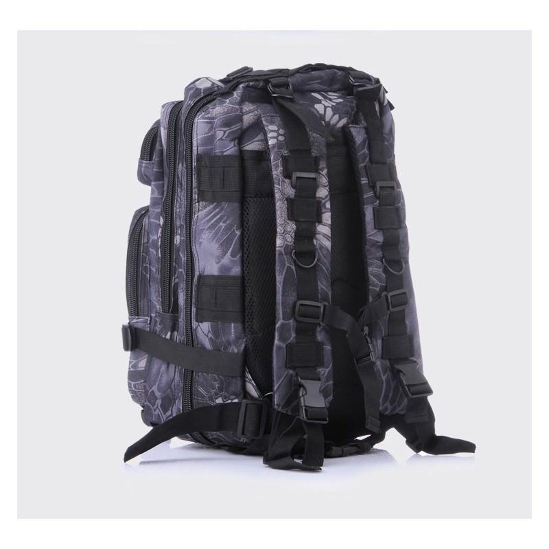 13474 - Недорогой камуфляжный тактический рюкзак 3P-Zone с системой M.O.L.L.E: 30л, водоотталкивающий нейлон