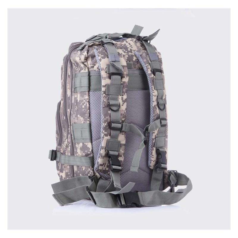 13476 - Недорогой камуфляжный тактический рюкзак 3P-Zone с системой M.O.L.L.E: 30л, водоотталкивающий нейлон