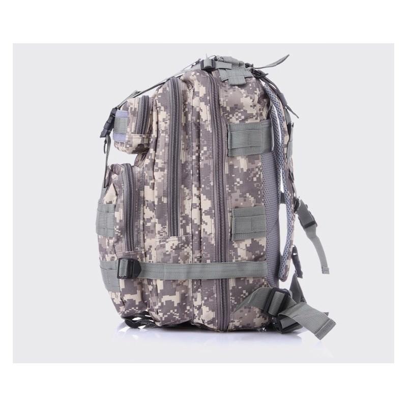13477 - Недорогой камуфляжный тактический рюкзак 3P-Zone с системой M.O.L.L.E: 30л, водоотталкивающий нейлон