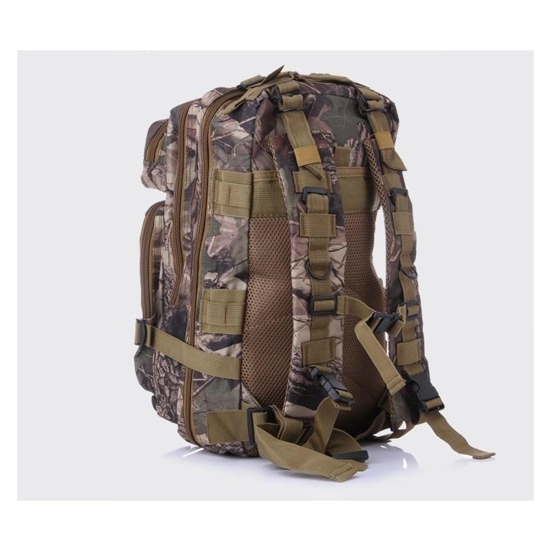 13478 - Недорогой камуфляжный тактический рюкзак 3P-Zone с системой M.O.L.L.E: 30л, водоотталкивающий нейлон