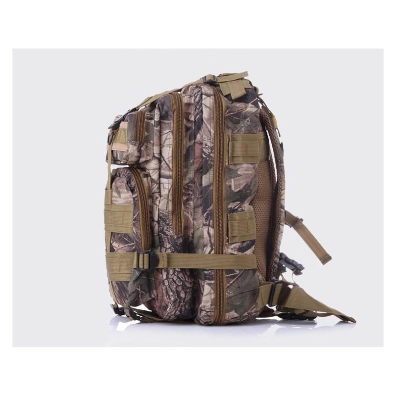 13479 - Недорогой камуфляжный тактический рюкзак 3P-Zone с системой M.O.L.L.E: 30л, водоотталкивающий нейлон