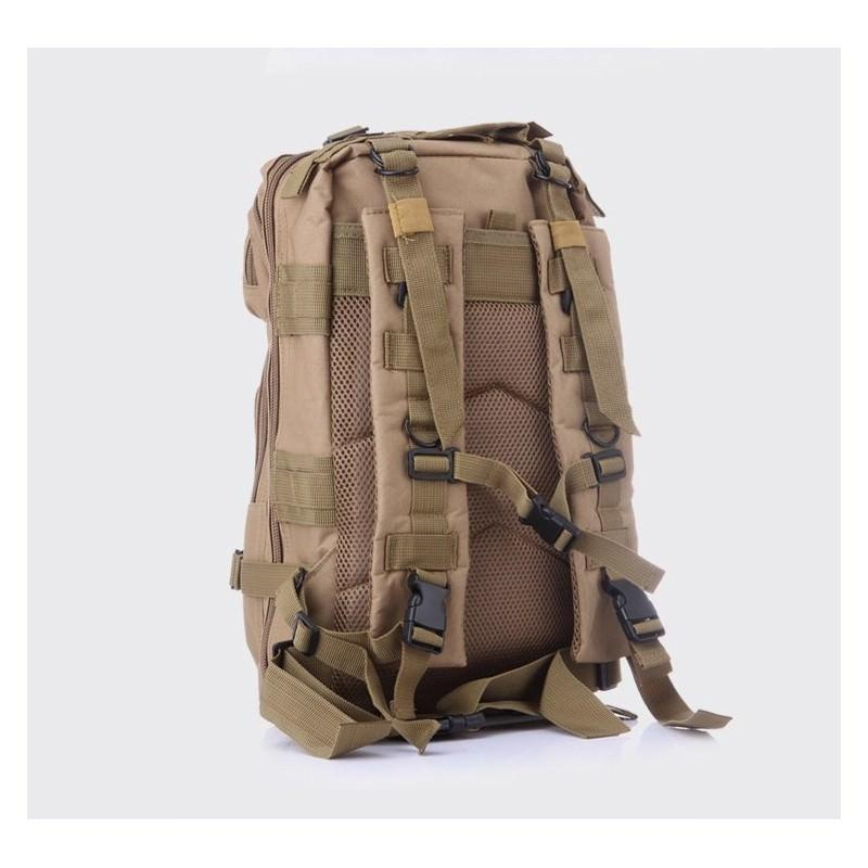 13482 - Недорогой камуфляжный тактический рюкзак 3P-Zone с системой M.O.L.L.E: 30л, водоотталкивающий нейлон