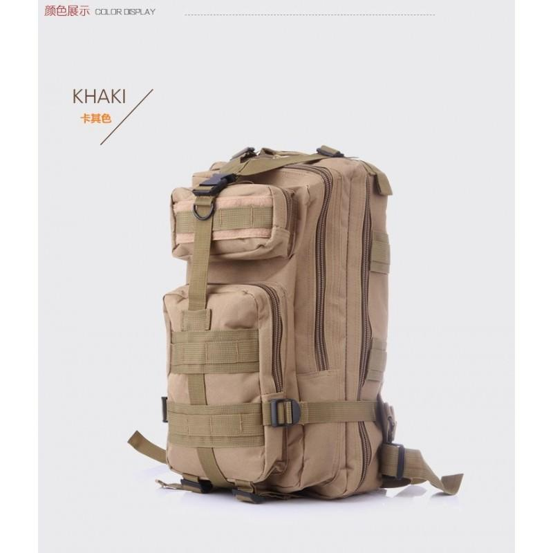 13484 - Недорогой камуфляжный тактический рюкзак 3P-Zone с системой M.O.L.L.E: 30л, водоотталкивающий нейлон