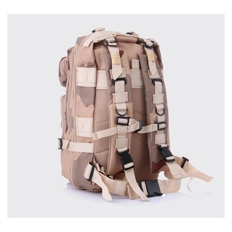 13485 - Недорогой камуфляжный тактический рюкзак 3P-Zone с системой M.O.L.L.E: 30л, водоотталкивающий нейлон