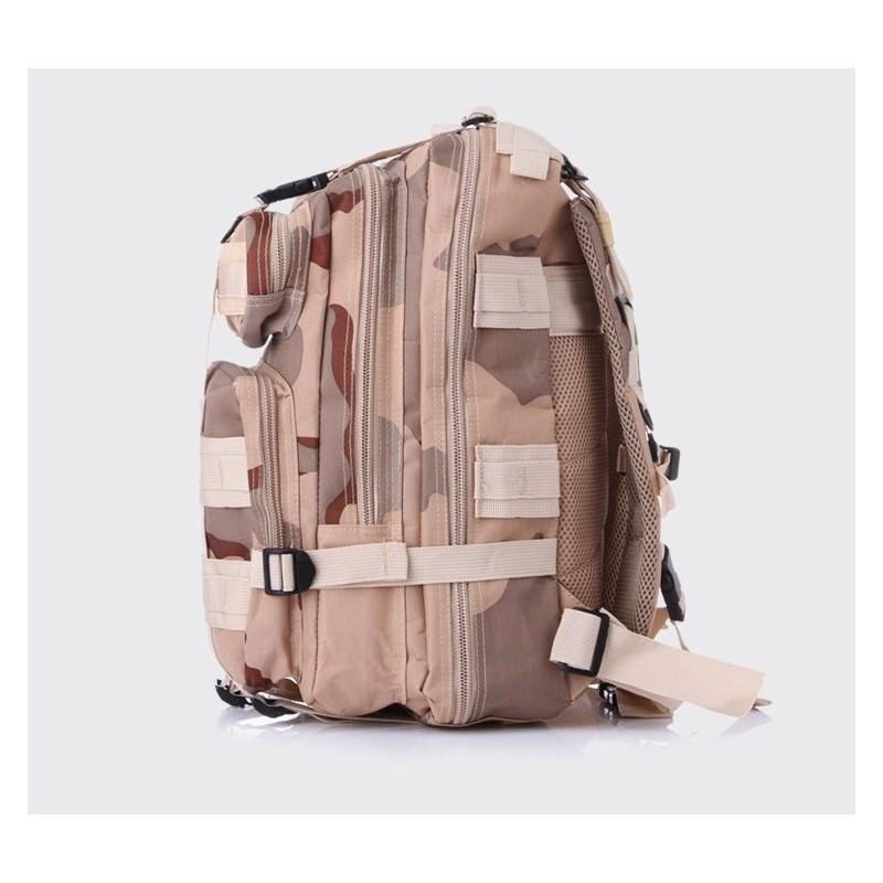 13486 - Недорогой камуфляжный тактический рюкзак 3P-Zone с системой M.O.L.L.E: 30л, водоотталкивающий нейлон