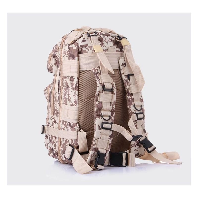 13488 - Недорогой камуфляжный тактический рюкзак 3P-Zone с системой M.O.L.L.E: 30л, водоотталкивающий нейлон