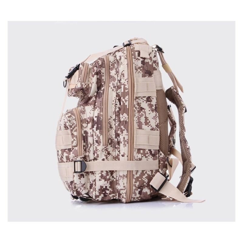 13489 - Недорогой камуфляжный тактический рюкзак 3P-Zone с системой M.O.L.L.E: 30л, водоотталкивающий нейлон