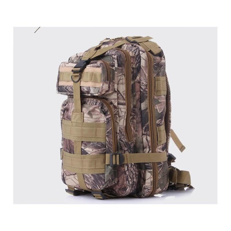 13491 - Недорогой камуфляжный тактический рюкзак 3P-Zone с системой M.O.L.L.E: 30л, водоотталкивающий нейлон