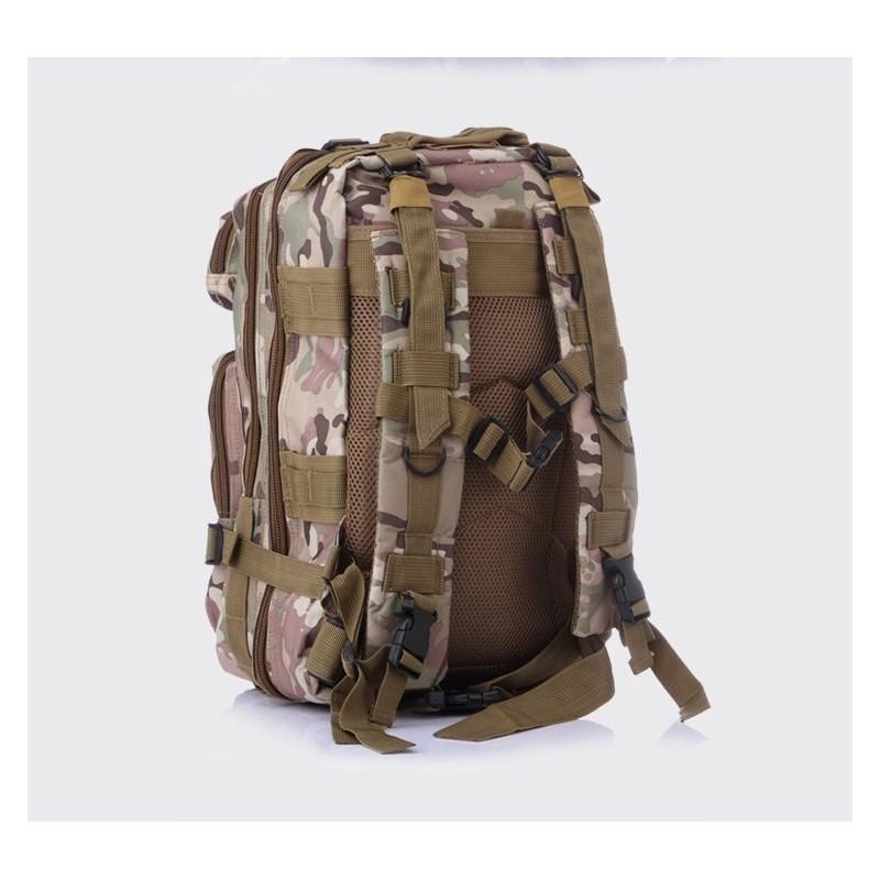 13492 - Недорогой камуфляжный тактический рюкзак 3P-Zone с системой M.O.L.L.E: 30л, водоотталкивающий нейлон